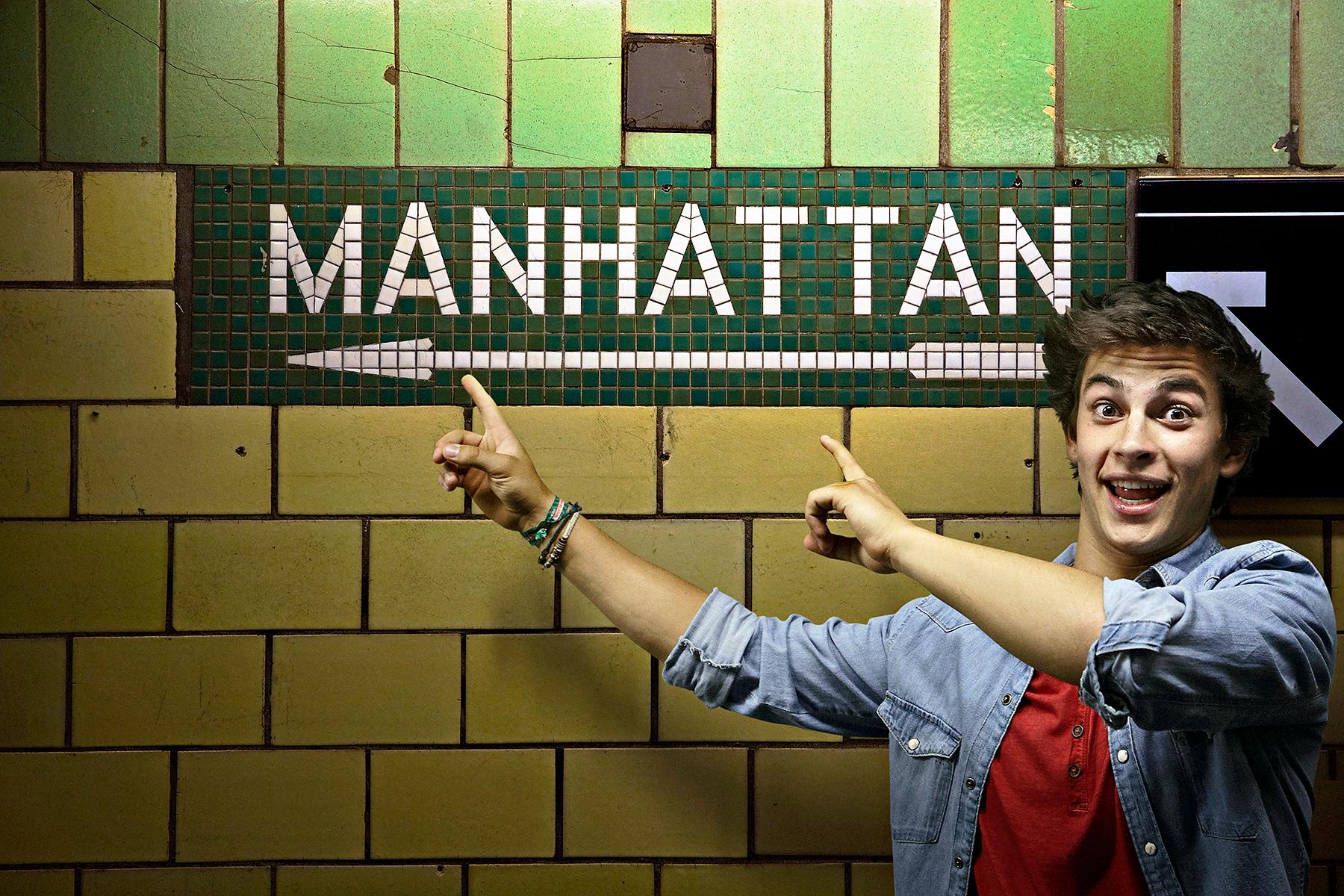 Manhattan Subway Sign